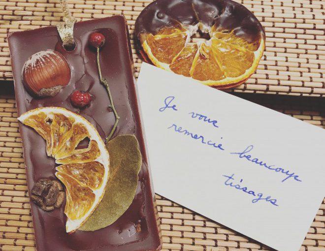 チョコ色アロマワックスバー