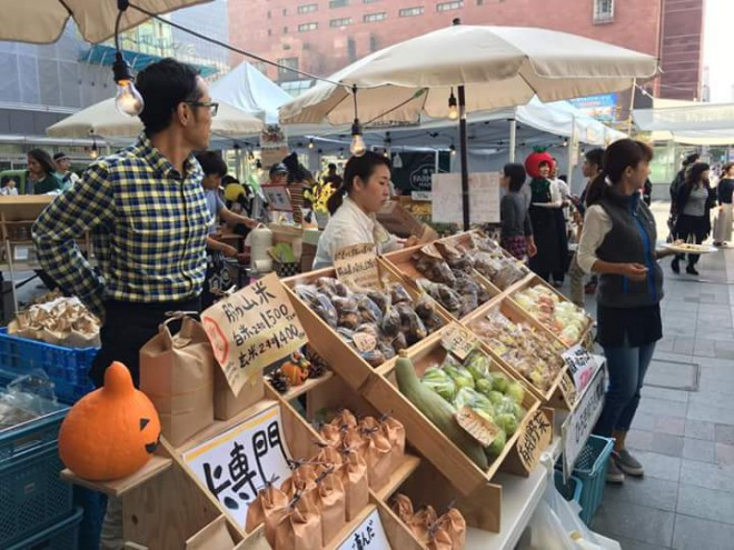 博多ファーマーズマーケットで脇山野菜が販売されています