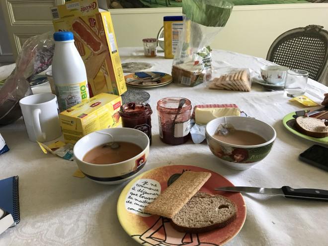 フランスの朝食~家庭編~